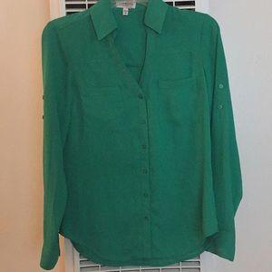 green long sleeve polyester